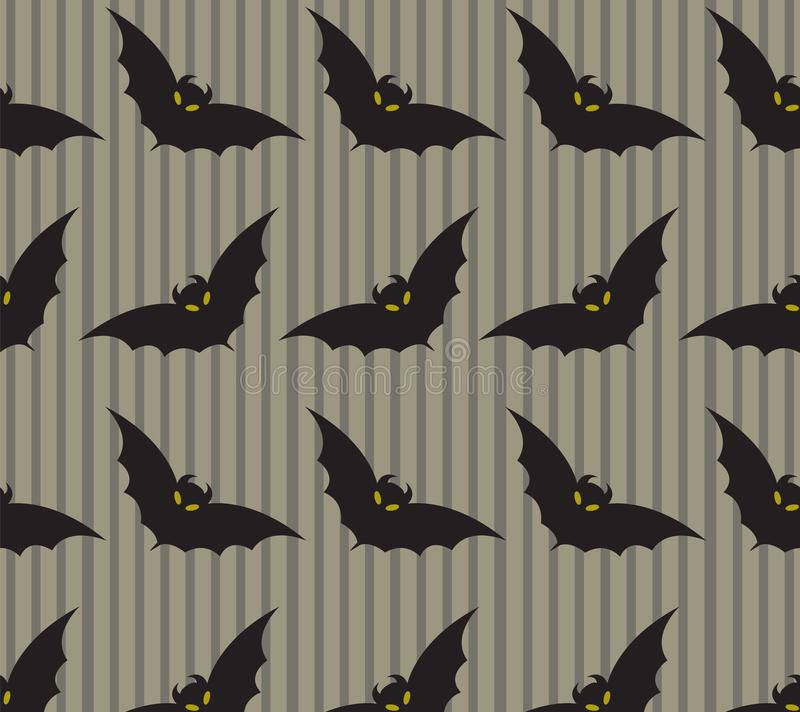 Halloween background with bat pattern royalty free illustration