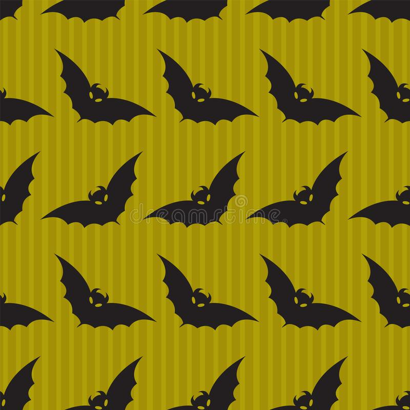 Halloween background with bat pattern vector illustration