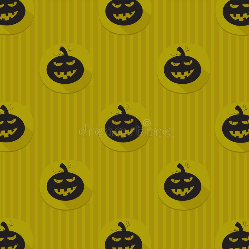 Halloween background with black pumpkins royalty free illustration