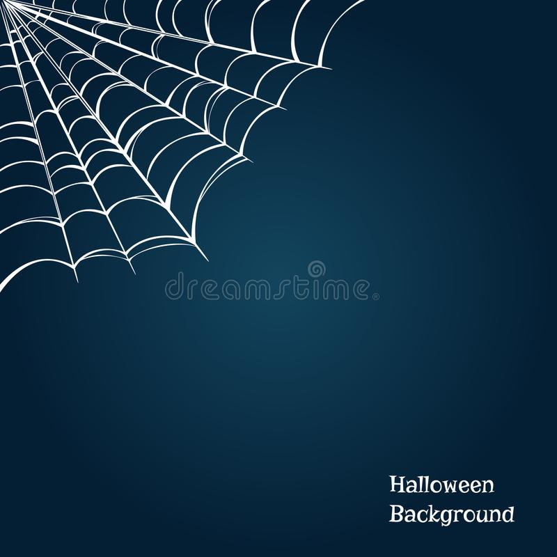 Halloween background with a cobweb in the corner. Vector illustration.  vector illustration