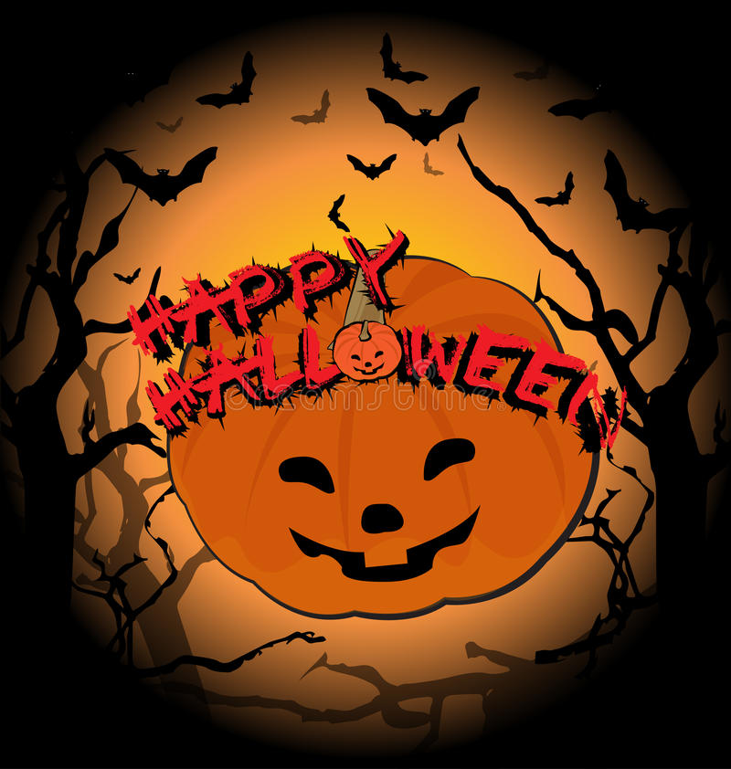Halloween background. Fright atmosphere in halloween day background royalty free illustration