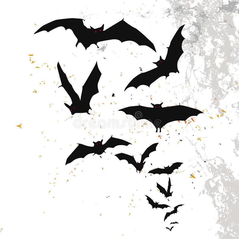 Halloween Background With A Full Moon And Bats Stock Image