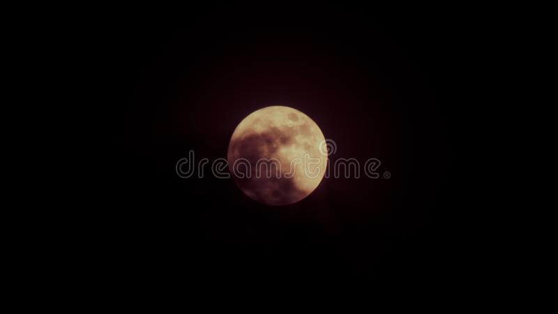 Halloween background. Full moon dark cloud sky at night royalty free stock photos