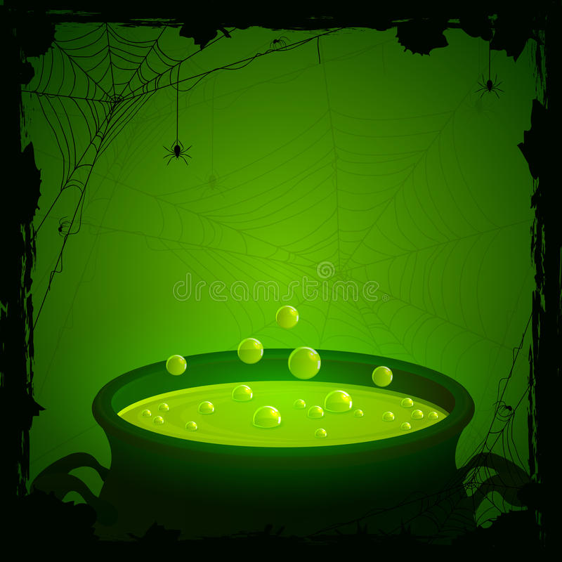 Halloween Background With Green Potion Stock Vector - Illustration ...