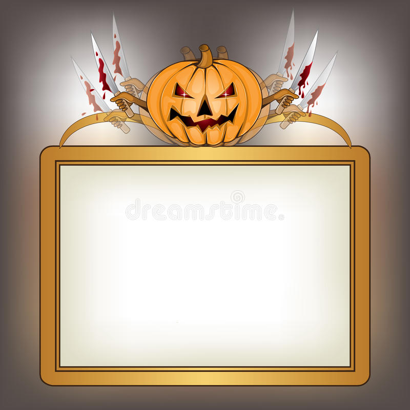 Download Halloween Background With Killer Pumpkin Stock Image - Image: 26325331