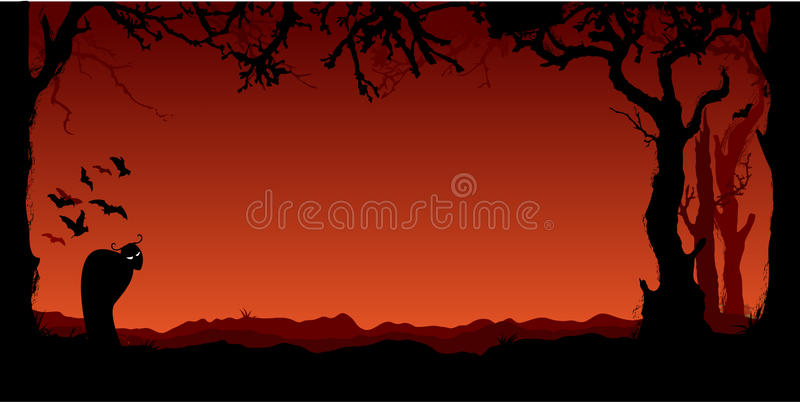 Halloween background with monster vector illustration