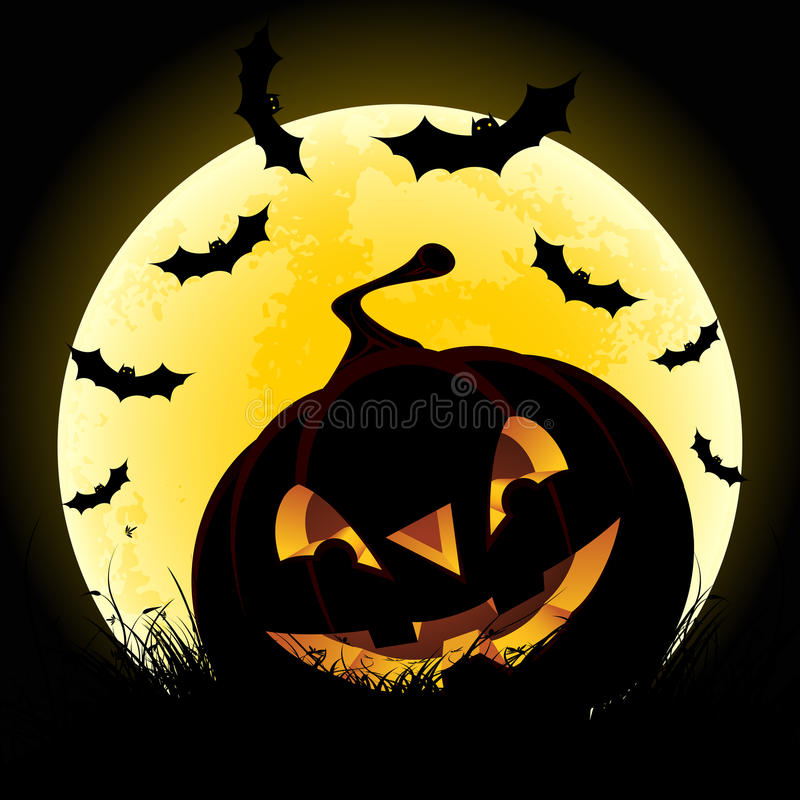 Download Halloween Background With Pumpkin And Moon Stock Photos - Image: 20320433