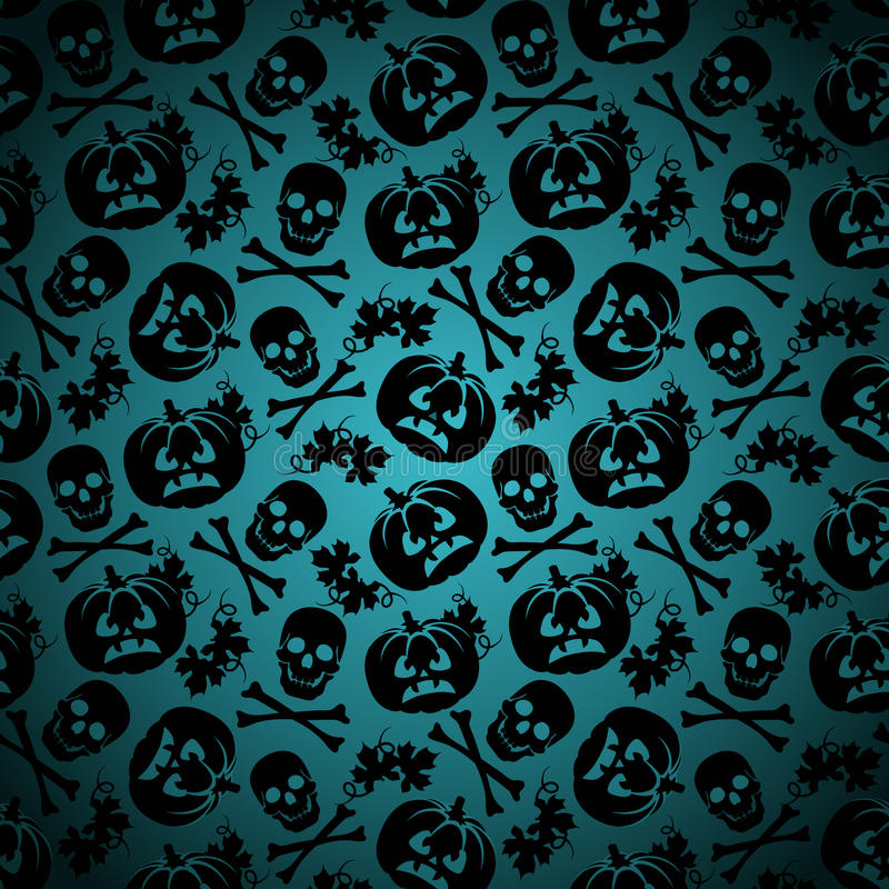 Halloween background with pumpkin and skeleton stock for Skeleton pumpkin pattern