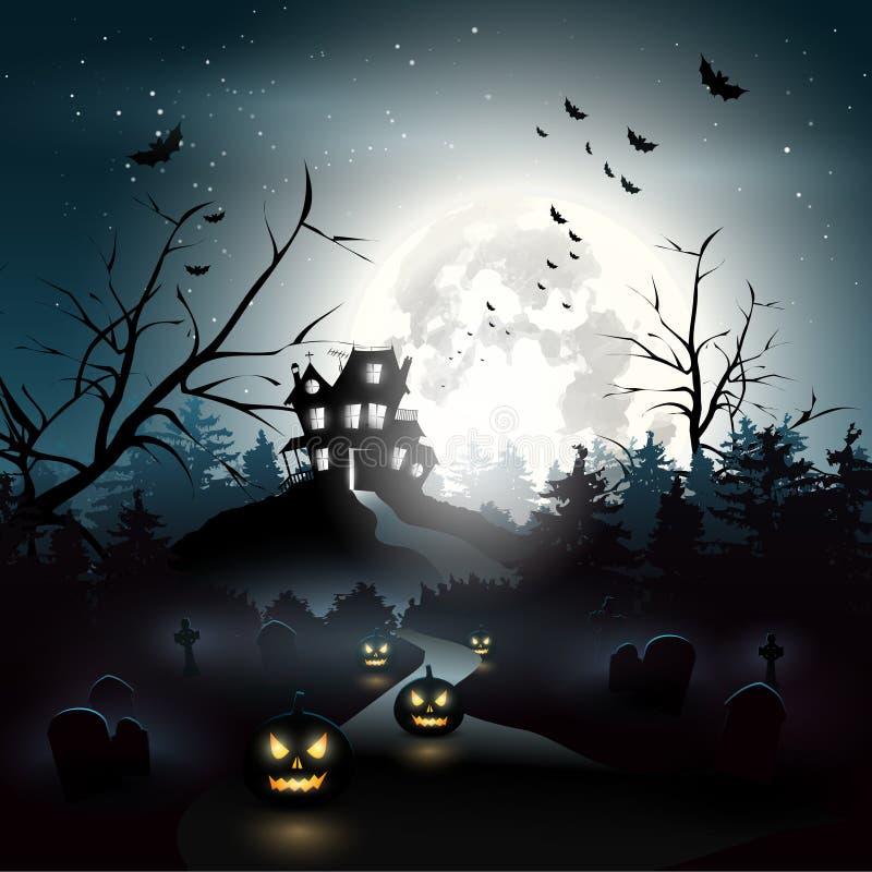 Halloween background stock illustration