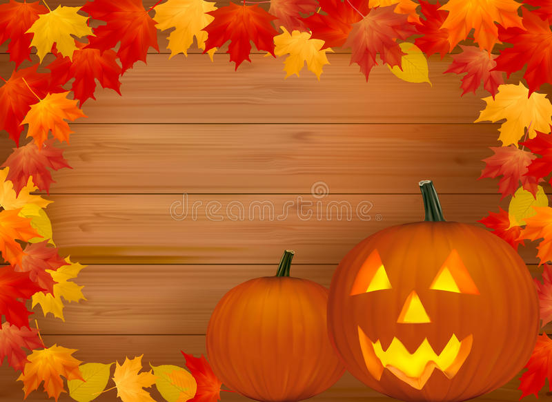 Halloween background with scary pumpkin. vector illustration