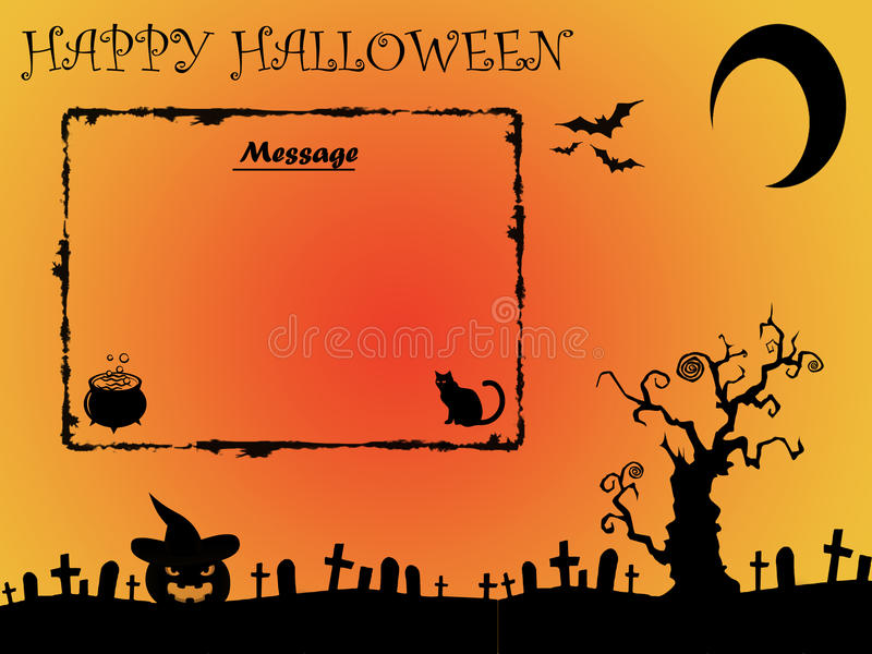 Halloween background with space for message royalty free stock photo