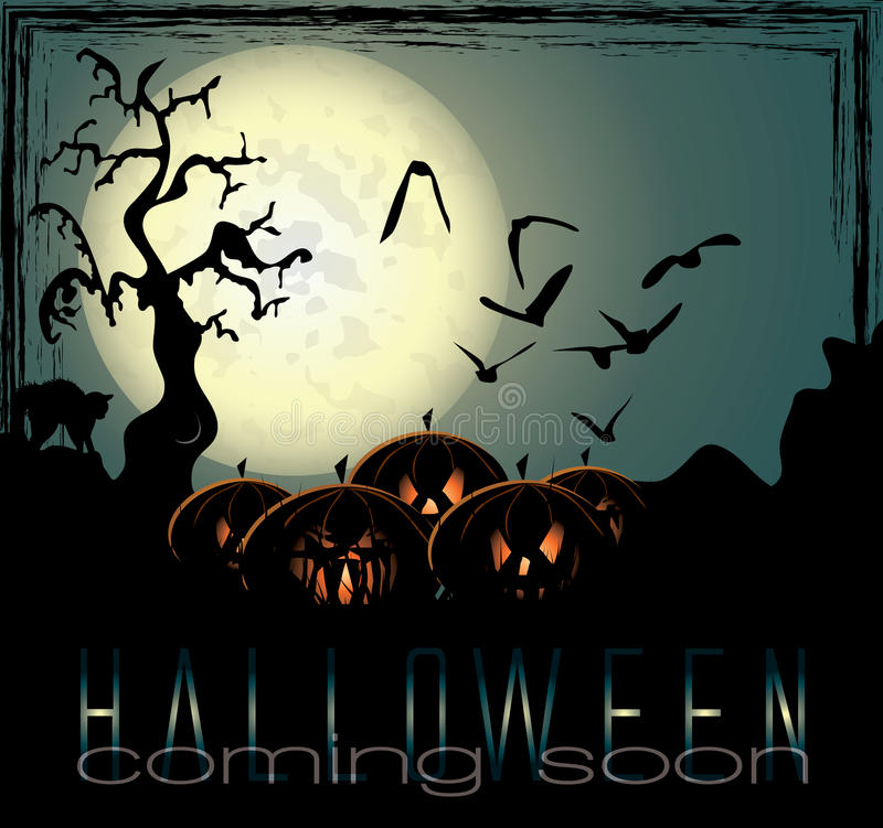 Download Halloween Background With Spooky Pumpkins Stock Vector - Image: 21539763