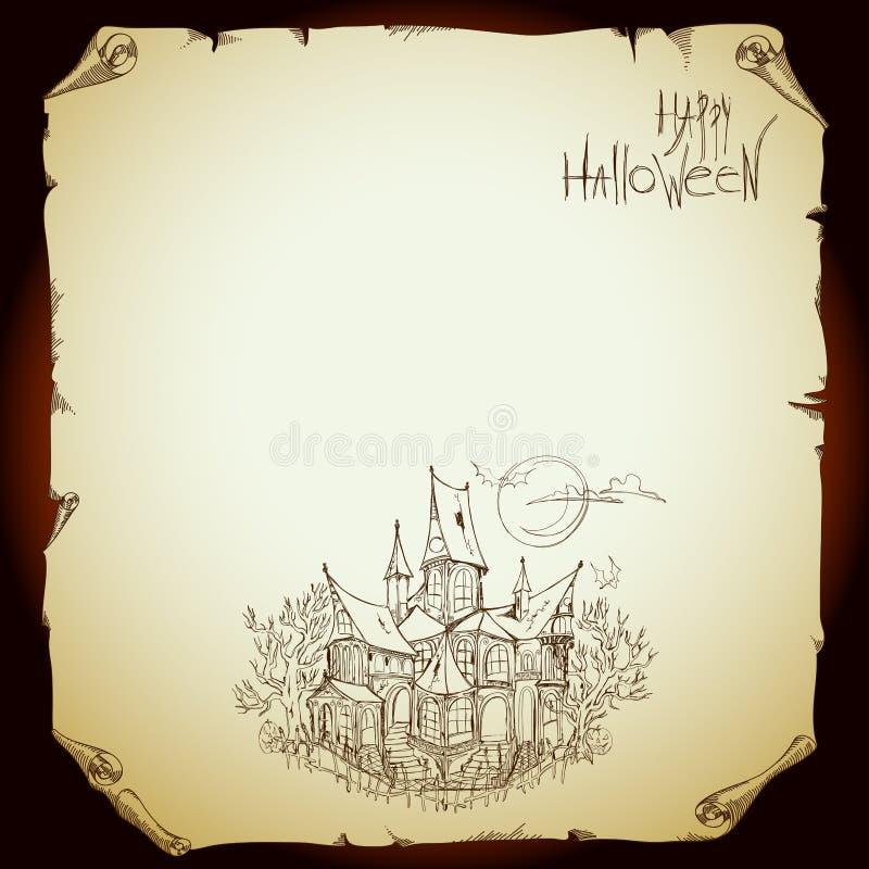 Halloween Bakgrund Arkivbild