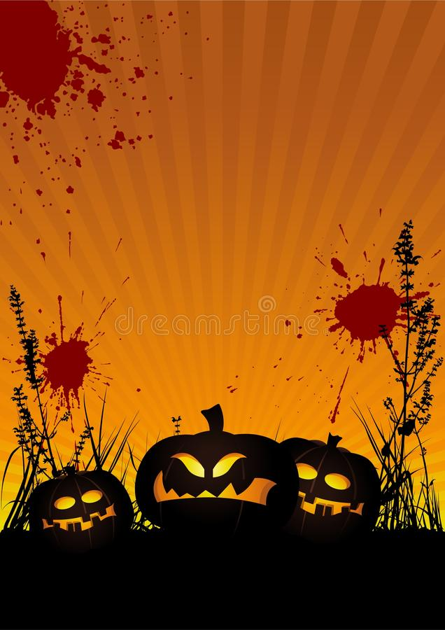 Halloween bakgrund royaltyfri illustrationer