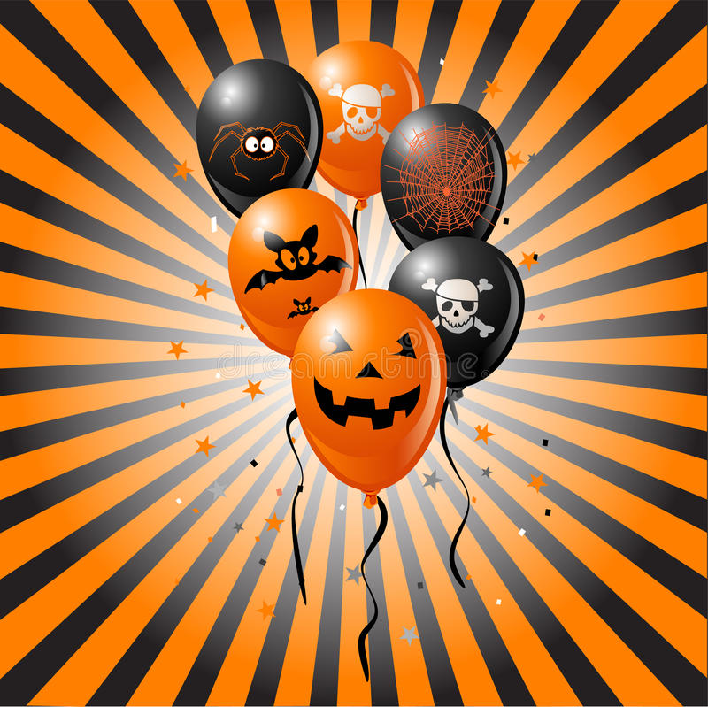 Halloween-Ballone stock abbildung