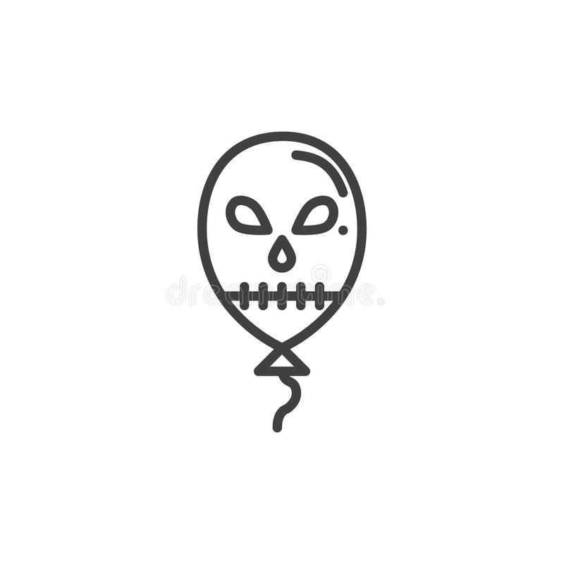Halloween-Ballonlinie Ikone vektor abbildung