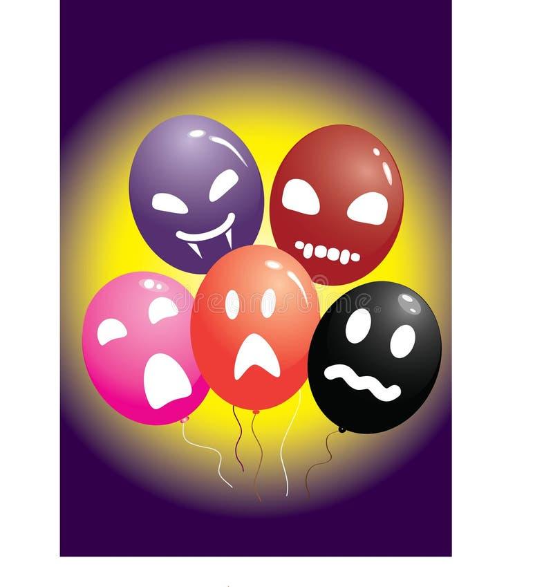 Halloween balloons stock image