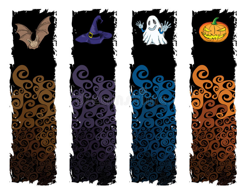 Halloween banner vector illustration