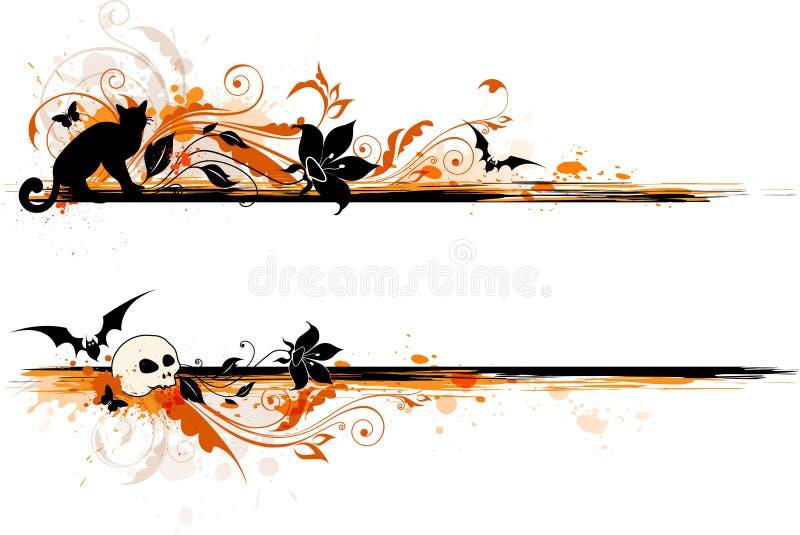 Halloween-banner stock illustratie