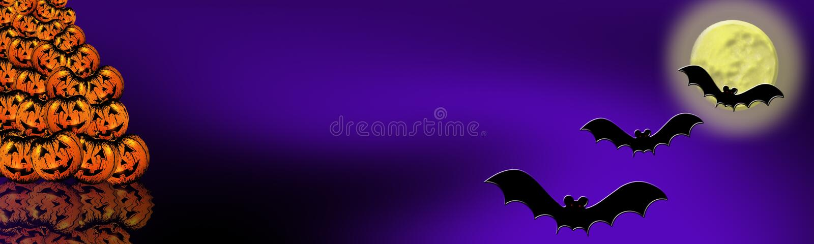 Halloween banner 6 royalty free stock image