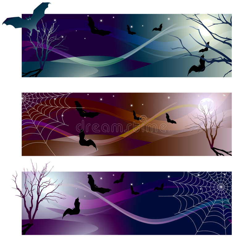 Download Halloween banner stock vector. Image of flying, tree, sign - 6295772