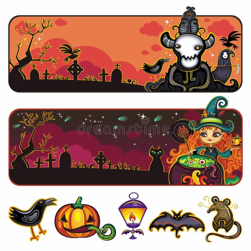 Download Halloween  banners stock vector. Image of celebration - 16347977