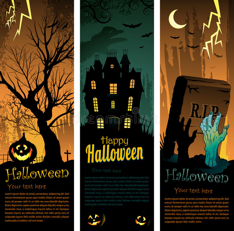 Free Halloween Banners Stock Images - 20834714