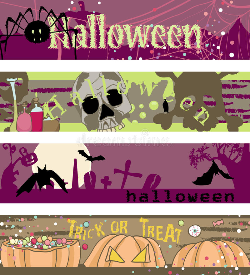 Download Halloween banners stock vector. Image of banner, grunge - 28081211