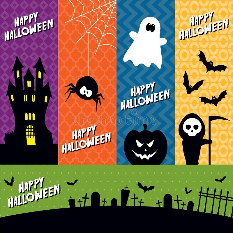 Halloween-banners royalty-vrije stock afbeeldingen