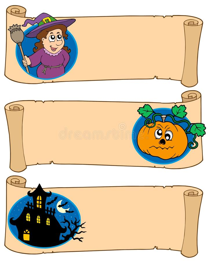 Halloween Banners Collection 5 Stock Photo