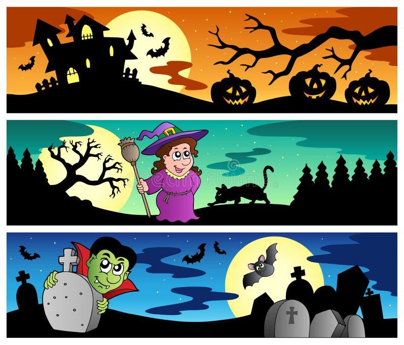 Halloween banners set 2 stock illustration