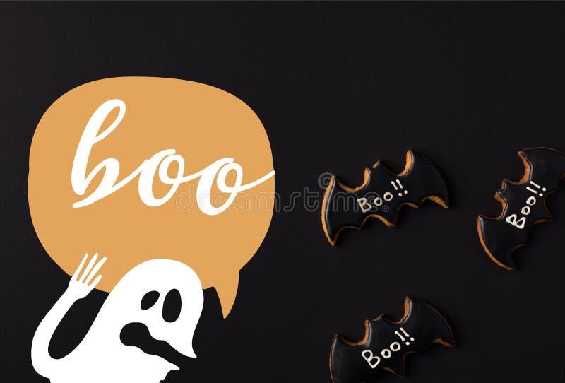 halloween bat cookies royalty free stock photography