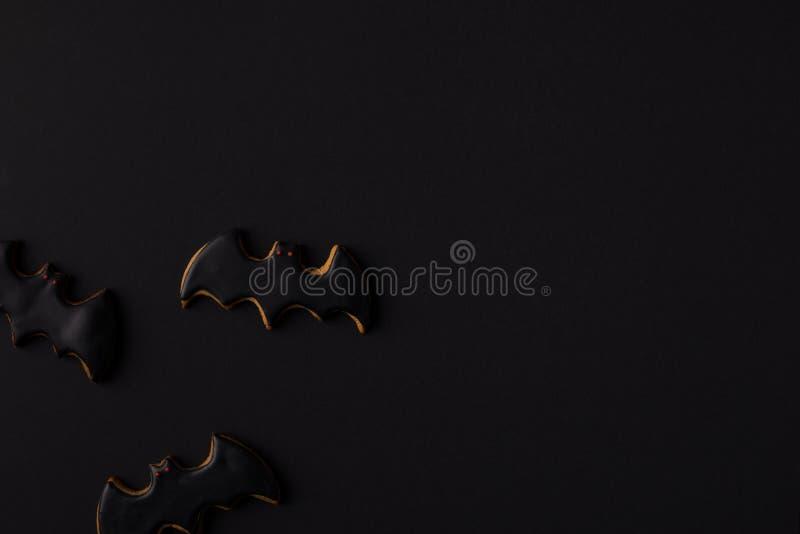 halloween bat cookies stock image