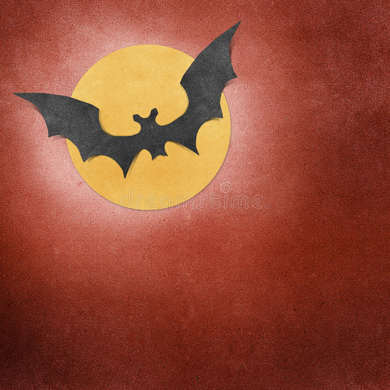 Download Halloween Bat And Moon Recycled Papercraft Stock Image - Image: 21331587