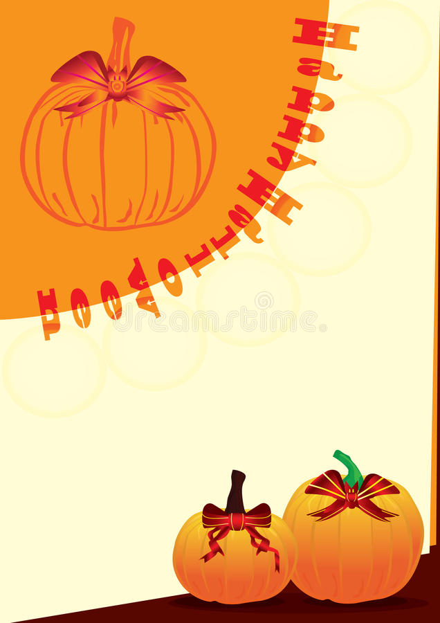 Download Halloween Bat Ribbon On Pumpkin_eps Stock Image - Image: 16304761