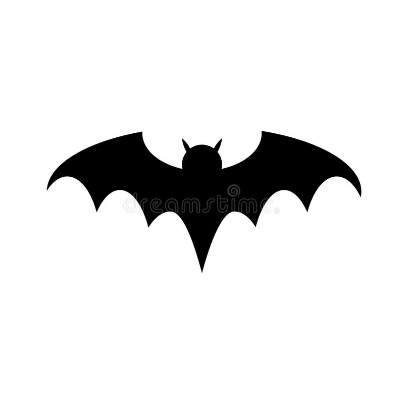 Halloween bat silhouette flat icon vector for your web site design, logo, app, UI. illustration, EPS10. stock illustration