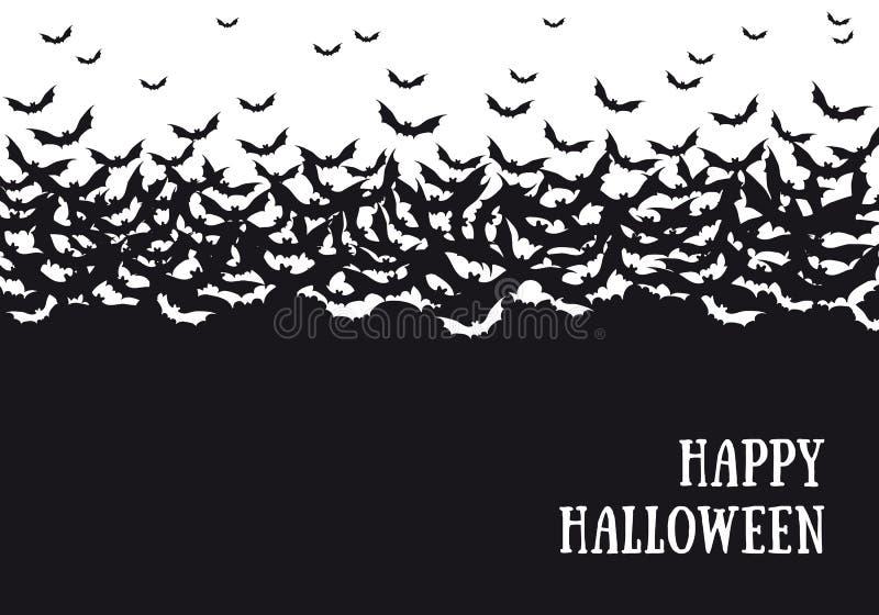 Halloween batte il fondo, vettore illustrazione di stock