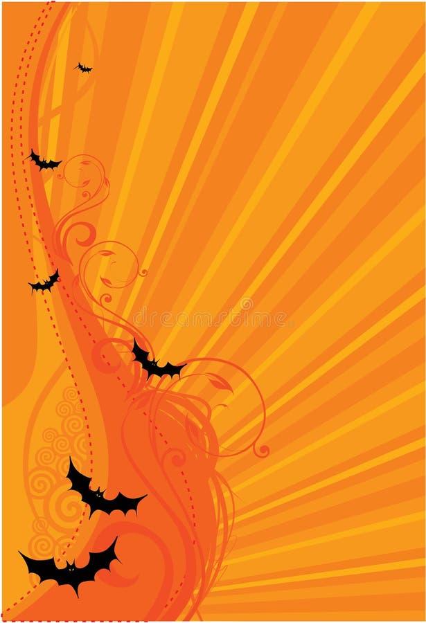 Halloween batte la priorità bassa illustrazione vettoriale