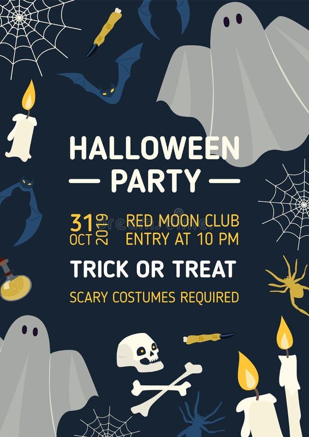 Halloween bawi się zaproszenia, ulotki lub plakata szablony z, ilustracji