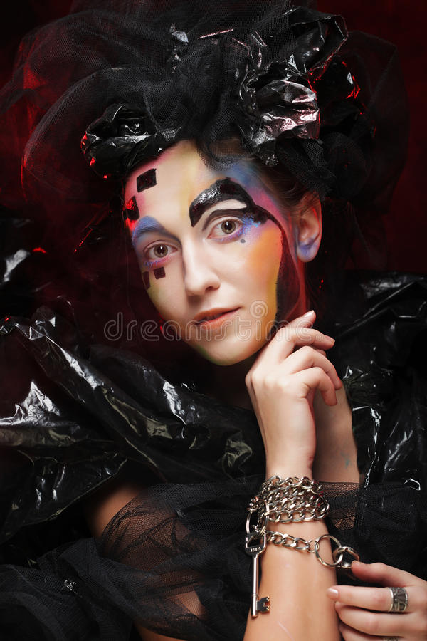 Halloween Beauty style woman makeup royalty free stock image
