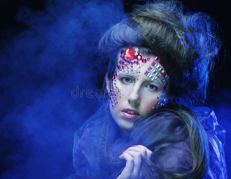 Halloween Beauty style woman makeup stock photo