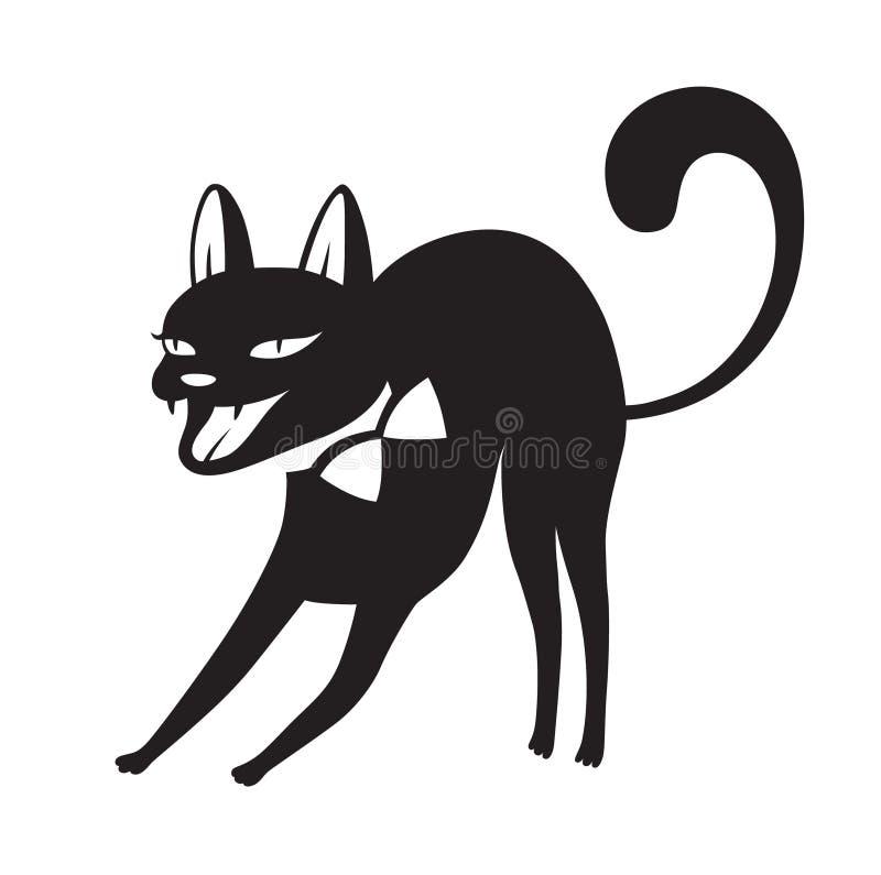 Halloween-beeldverhaalkat vector illustratie