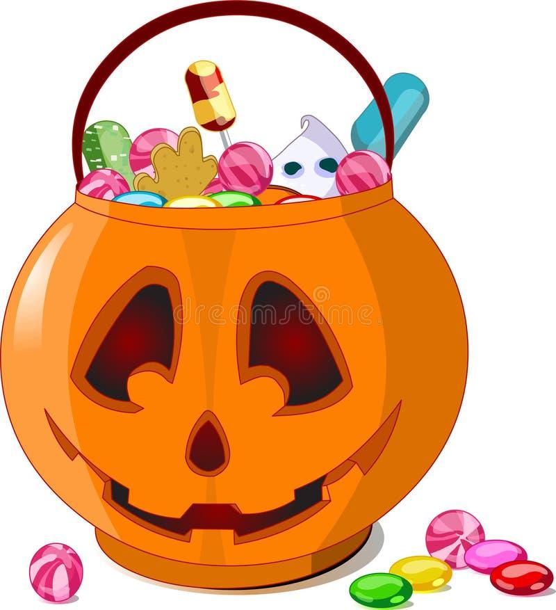 Halloween behandelt stock illustratie