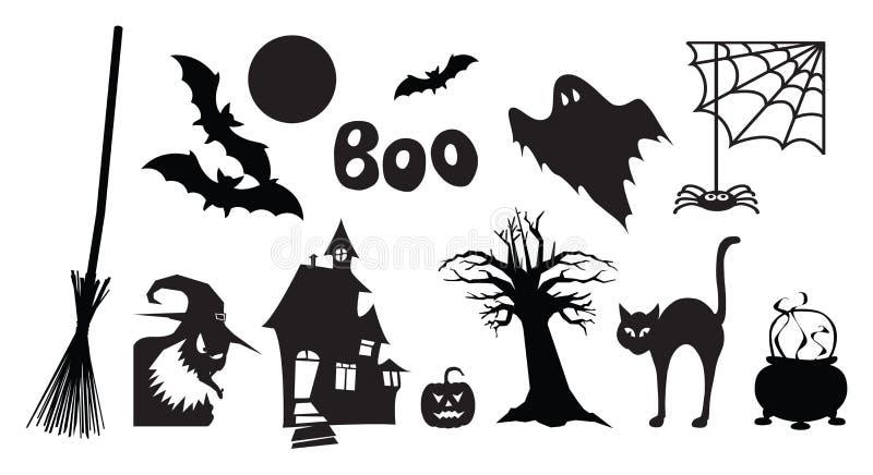 Halloween-Bilder vektor abbildung. Illustration von geister - 27049008