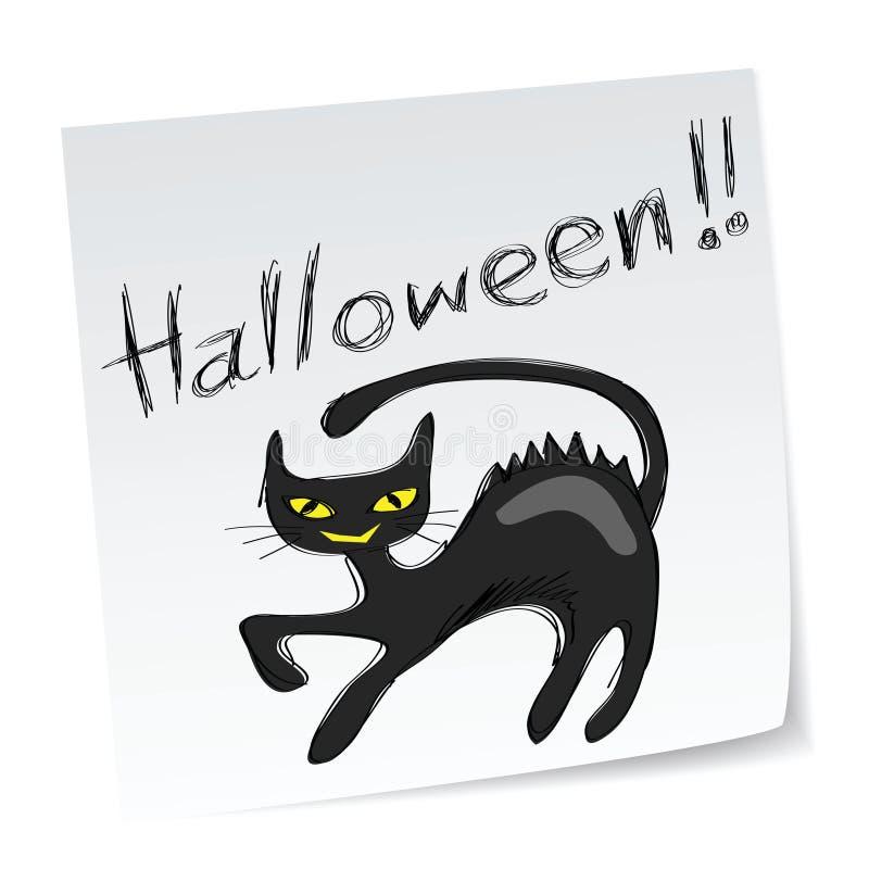 Download Halloween black cat stock vector. Image of icon, magic - 15936303