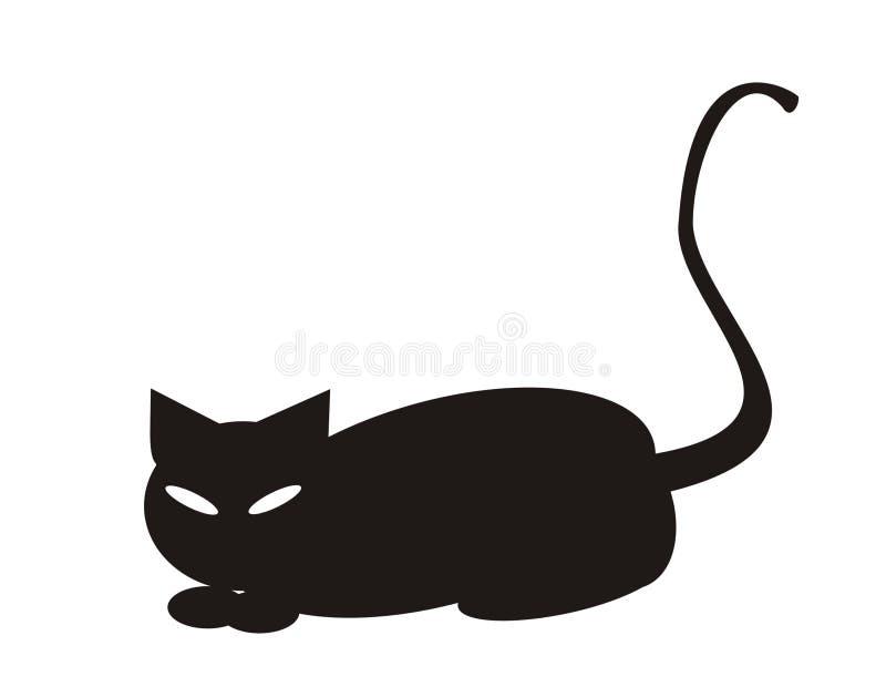 Download Halloween black cat stock illustration. Illustration of card - 644594