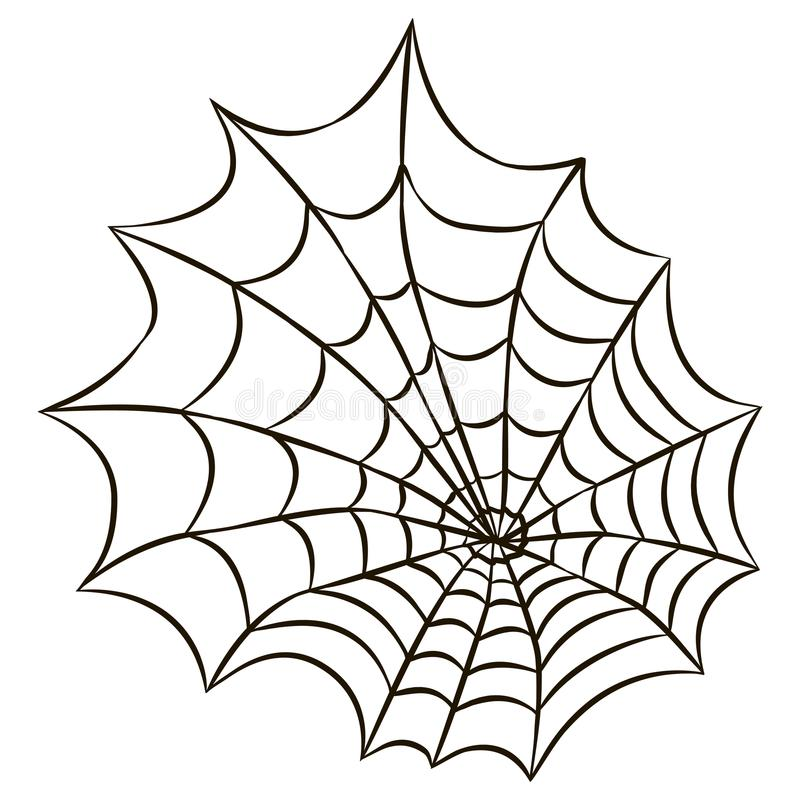 halloween black spider web isolated on white background stock rh dreamstime com vector spider web free vector spider web border
