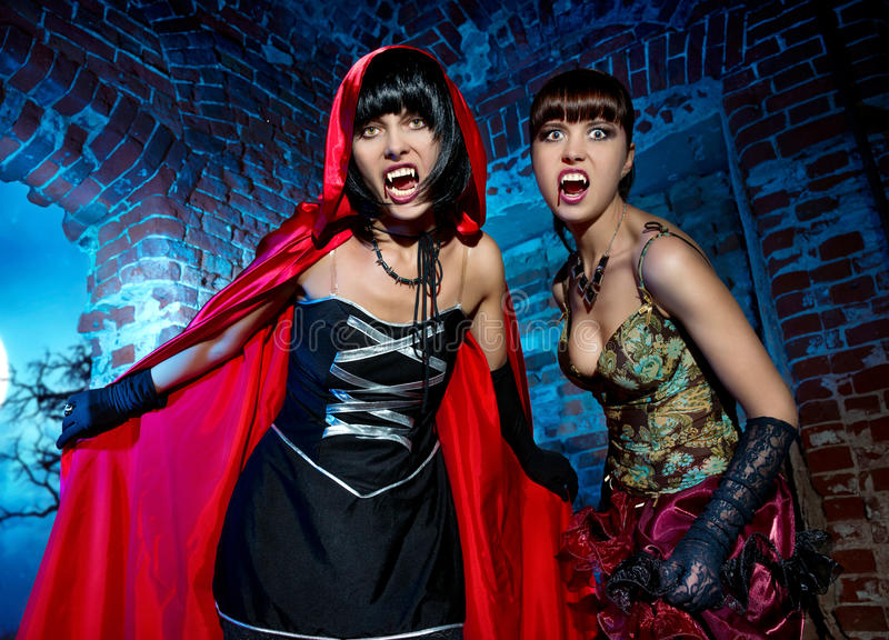 Download Halloween. Bloodthirsty Vampire Beautiful Woman Stock Photo - Image: 34014208
