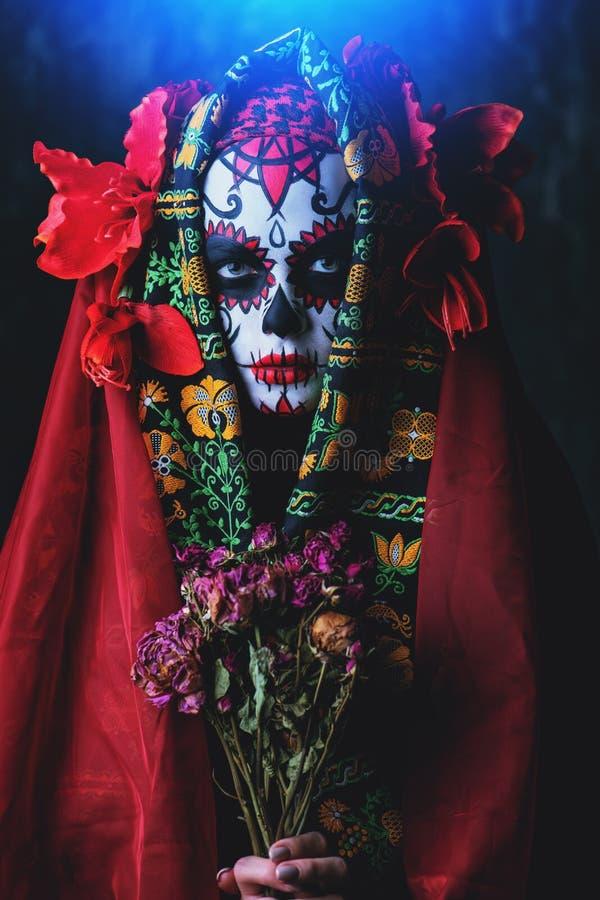 Halloween-Blumenstrauß von Blumen lizenzfreies stockfoto