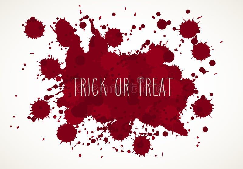 Halloween-Blut plätschert Hintergrund vektor abbildung